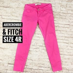 Abercrombie & Fitch Hot Pink Skinny Jeans 4R
